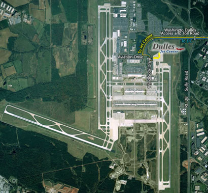 Dulles Jet Center Map
